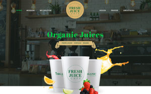 Landing page design for Juice Cafe, Coffee,