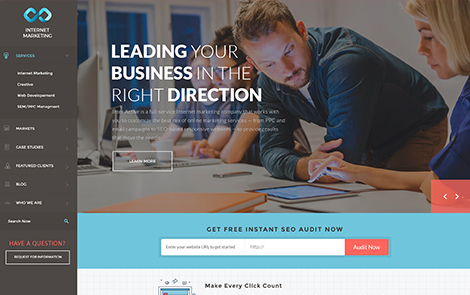Landing page design for Marketing